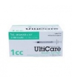 "UltiCare U-100 Insulin Syringe 28G, 1cc, 1/2"" - 100 Syringes"