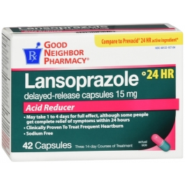 GNP Lansoprazole 15mg Acid Reducer Capsules- 42ct