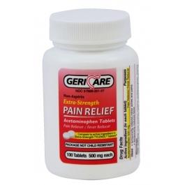 Geri-Care Extra Strength Acetaminophen - 100 Tablets