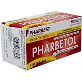 Acetaminophen (Pharbetol) Extra Strength 500mg Tablets- 100ct