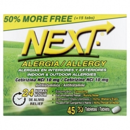 Next Indoor & Outdoor Allergy Tablets, 45ct