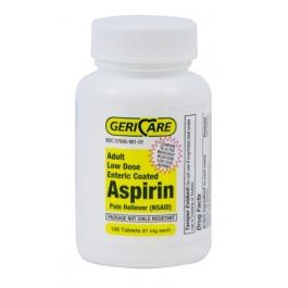 GeriCare Enteric Coated Aspirin Tablets, 81mg, 100ct