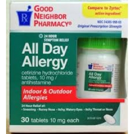 GNP® All Day Allergy Tablet- 30ct