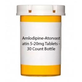 Amlodipine-Atorvastatin 5-20mg Tablets - 30 Count Bottle