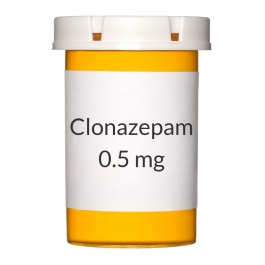 Clonazepam (Generic Klonopin) 0.5mg Tablets