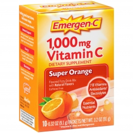 Emergen-C Vitamin C Fizzy Drink Mix Super Orange 1000 mg - 10 Packets