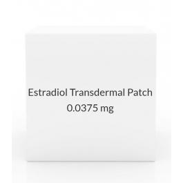 Estradiol Transdermal Patch 0.0375mg/Day (Pack of 4) Once Weekly