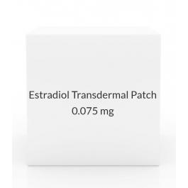 Estradiol Transdermal Patch 0.075mg/Day (Pack of 4) - Once Weekly