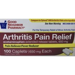 Good Neighbor Pharmacy Arthritis Pain Relief Acetaminophen Extended Release 650mg Caplets-100ct