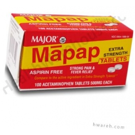 Major Acetaminophen 500mg - 100 Tablets