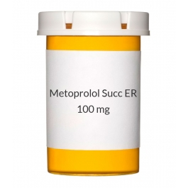 Metoprolol Succinate ER 100 mg Tablets