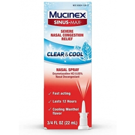 Mucinex Sinus-max Nasal Spray Clear & Cool, 0.75 Oz