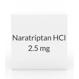 Naratriptan HCl 2.5mg Tablets - 9 Tablet Dose Pack