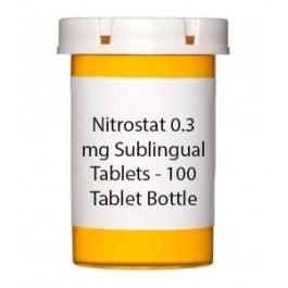 Nitrostat 0.3 mg Sublingual Tablets - 100 Tablet Bottle