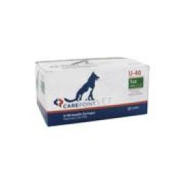 Carepoint Veterinary U-40 Insulin Syringe 29 Gauge, 1cc, 1/2