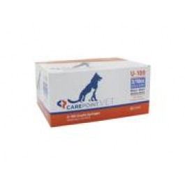 Carepoint Veterinary U-100 Insulin Syringe 31 Gauge, 3/10cc, 5/16