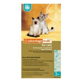 Advantage Multi (For Cats 2-5 lbs) - 6 Month Pack (Turquoise)