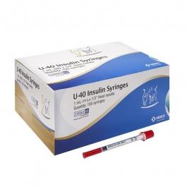 Vetsulin U-40 Insulin Syringe 29 gauge, 1cc, 1/2