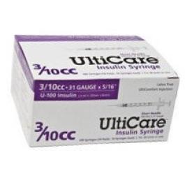 UltiCare Insulin Syringe, 31 Gauge, 3/10cc, 5/16