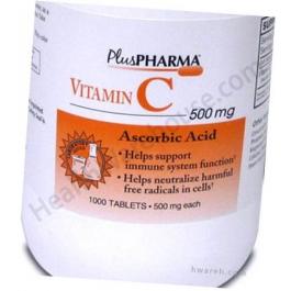Vitamin C 500mg Tablets - 100 Count Bottle