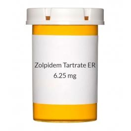 Zolpidem Tartrate ER 6.25mg Tablets