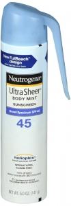 Neutrogena Ultra Sheer Body SPF 45 with Spray 5 oz