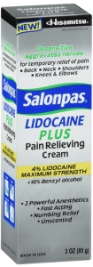 Salonpas Lidocaine Plus Cream 3 oz