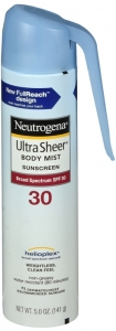 Neutrogena Ultra Sheer Lightweight Sunscreen Spray, SPF 30, 5 oz