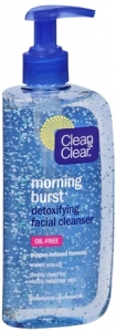 Clean & Clear Morning Burst Detoxifying  Facial Cleanser Oil- Free 8oz