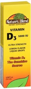 Nature's Blend Vitamin D3 Drops, 5000 IU 1.75oz