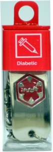 Apothecary Diabetic I.D. Bracelet-Stainless