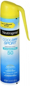 Neutrogena Cool Dry Sport Water-Resistant Sunscreen Spray SPF 50 5 oz
