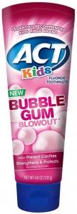 ACT Kids Toothpaste Bubblegum - 4.6 oz.