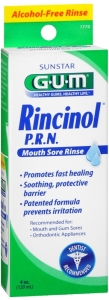 Butler G-U-M Rincinol P.R.N Oral Pain Reliver 4oz