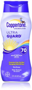 Coppertone Ultra Guard Sunscreen Lotion, SPF 70- 8oz