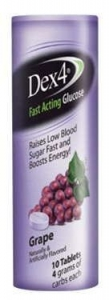 Dex4 Glucose Tablet Grape  10 Count