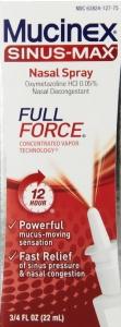 Mucinex Sinus-Max Full Force Nasal Decongestant Spray- .75oz