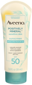 Aveeno Mineral Sensitive Skin Sunscreen - Spf 50 - 3oz