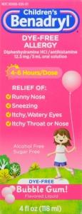 Benadryl Children's Allergy Liquid, Bubblegum- 4oz