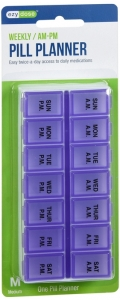 Ezy-Dose Pill Reminder Twice-A-Day Weekly