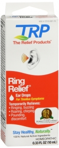 TRP Ring Relief Homeopathic Ear Drops For Tinnitus Symptoms 0.33 oz