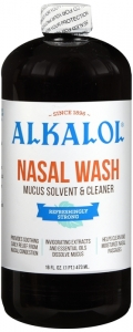Alkalol Nasal Wash Mucus Solvent and Cleaner- 16oz