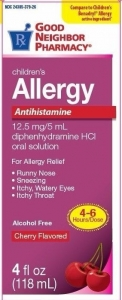 GNP Adult Allergy Diphedryl Elixir, Cherry- 4oz