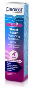 Clearasil Ultra Vanishing Rapid Action Acne Treatment Cream 1oz