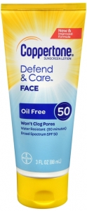 Coppertone Defend and Care Face Lotion SPF 50 3oz