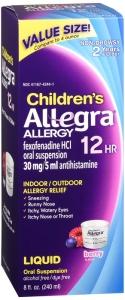 Allegra Children's Allergy Non-Drowsy Oral Suspension, Berry- 8oz