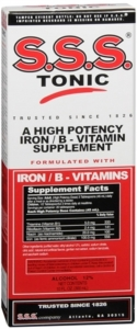 S.S.S. Tonic Iron/B-Vitamin Supplement Liquid - 10oz