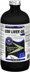 Humco Cod Liver Oil USP 16 oz