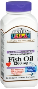 21st Century, Fish Oil 1200mg 90 Enteric Coated Softgels