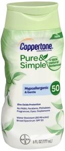 Coppertone Pure & Simple Body Sunscreen Spf 50, 6oz